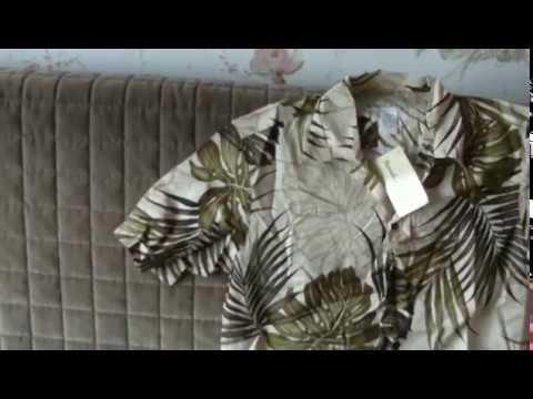 Гавайская рубашка из вискозы (rayon), искуственного шёлка.
