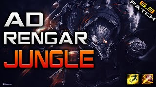 [Season 6 Patch 6.3] New AD Rengar Jungle - Ranked Commentary- 7/3/11
