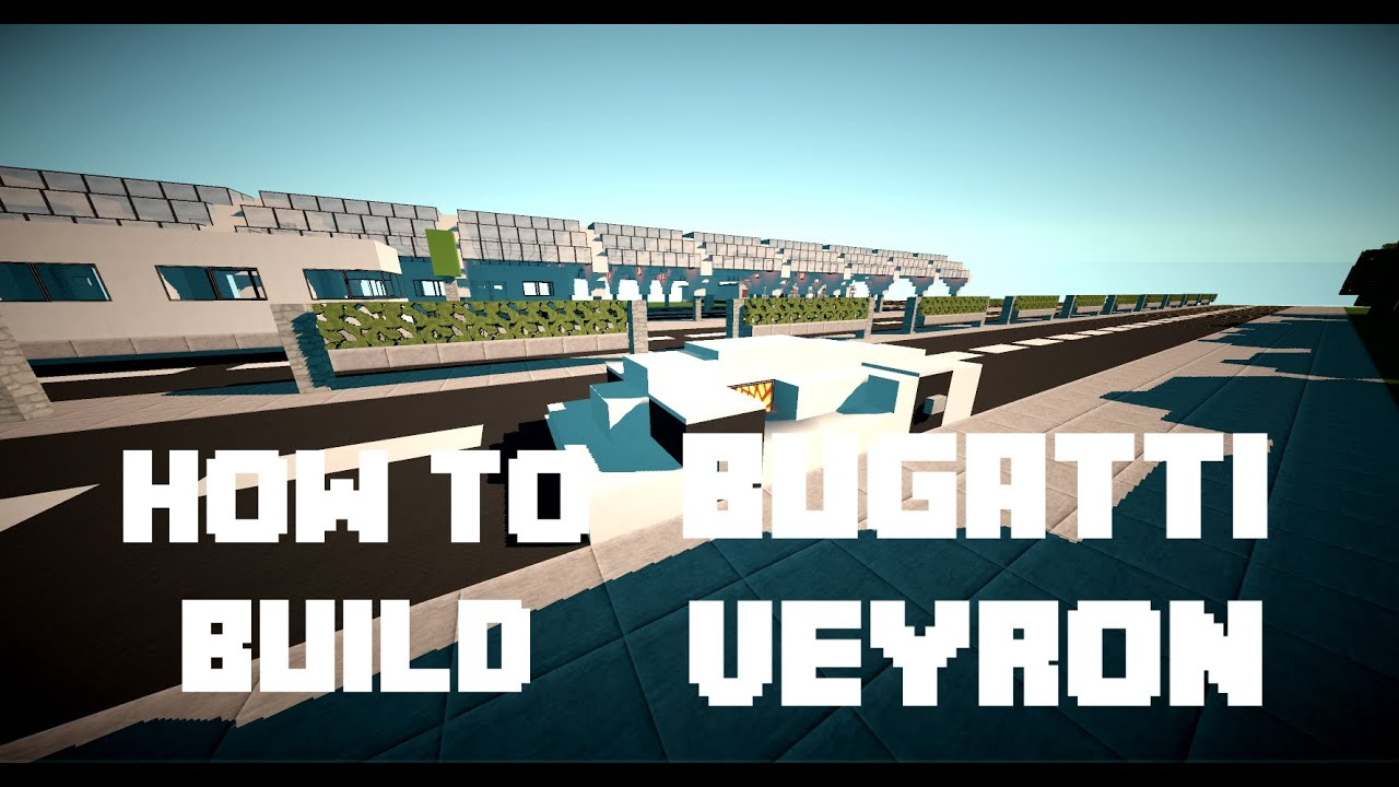 minecraft how to build bugatti veyron youtube. Black Bedroom Furniture Sets. Home Design Ideas