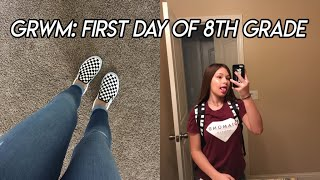 first day of 8th grade grwm/vlog 2017