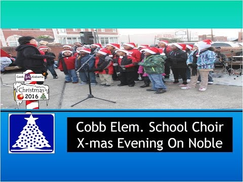 Cobb Elementary School Choir At A Christmas Evening On Noble
