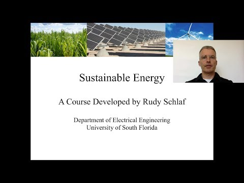 Introduction to the Sustainable Energy Course