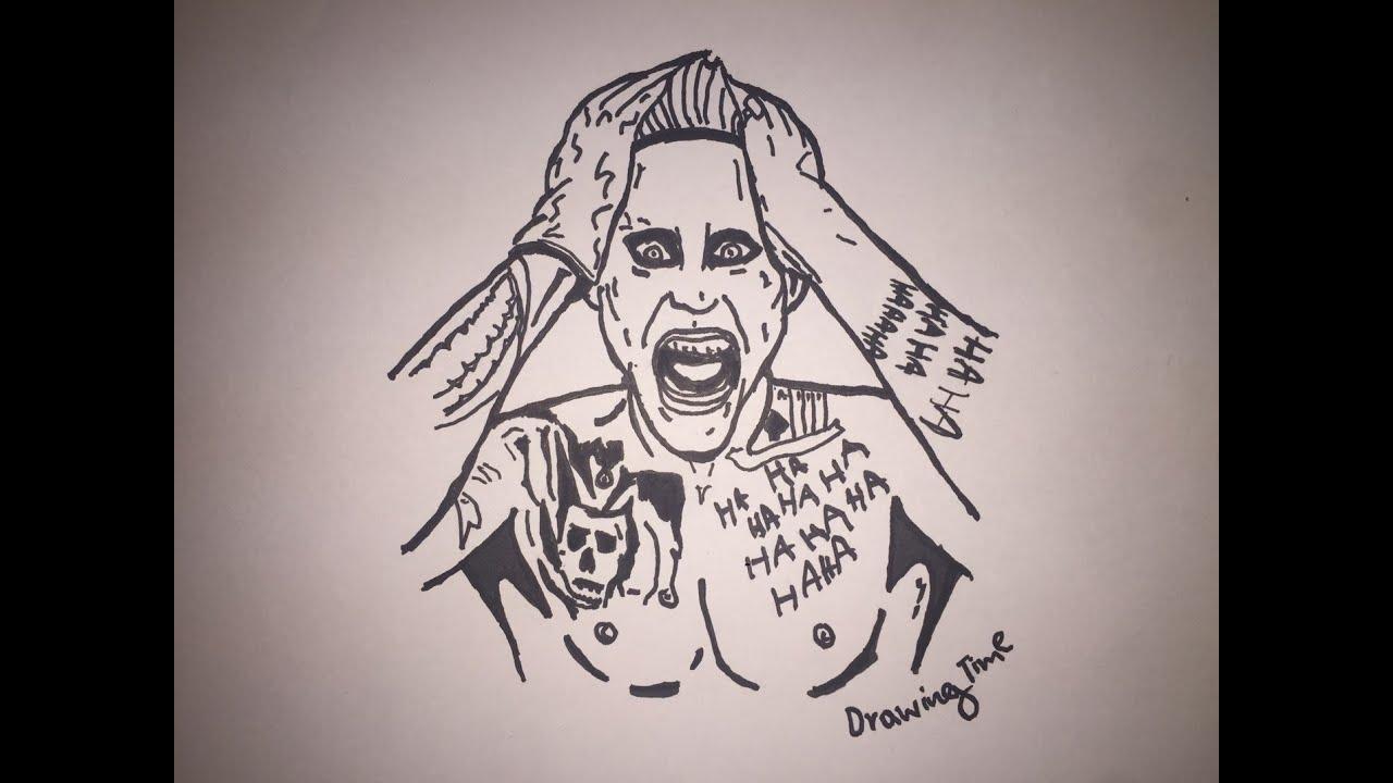 Uncategorized Drawing Joker how to draw suicide squad joker youtube