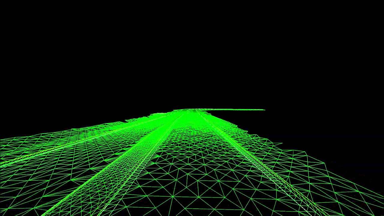 Digital Terrain Model From Mobile LiDARFlythrough