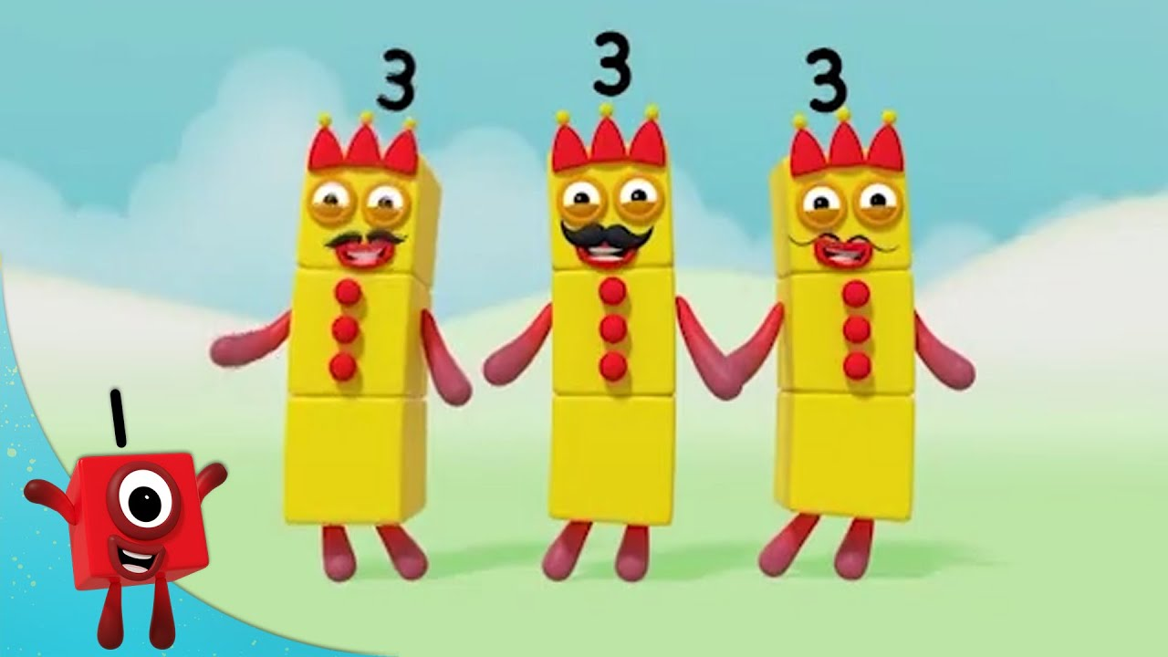 Numberblocks - Number 3 Best Bits! 🎉 | Learn to Count | Learning Blocks