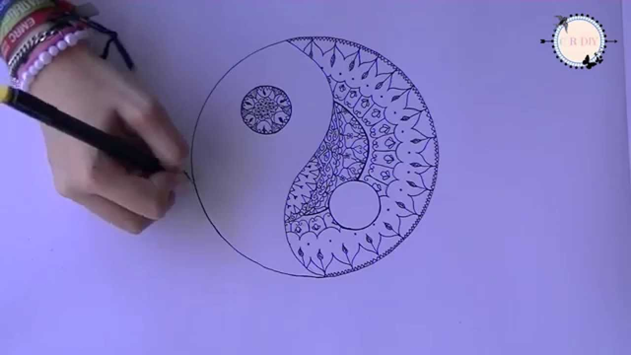 Diy Yin And Yang Mandala Draw Youtube