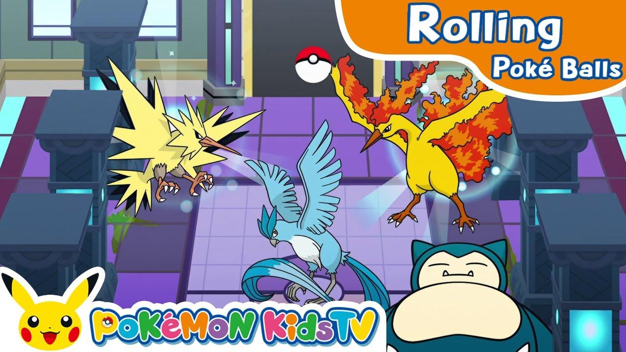 Rolling Poké Balls: Kanto Region   Pokémon Fun Video   Pokémon Kids TV