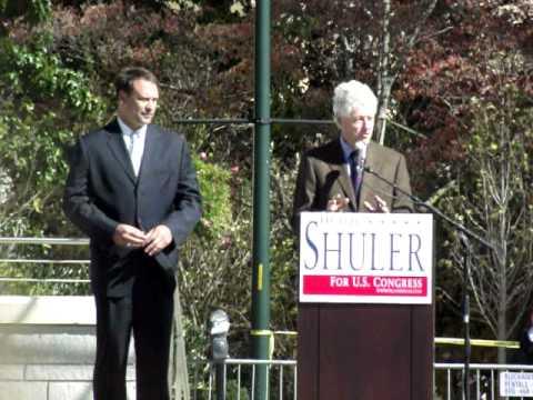 Bill Clinton Asheville NC Heath Shuler Rally 10-21-10
