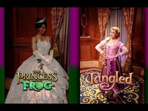 Meeting Rapunzel And Tiana At Princess Fairytale Hall Magic Kingdom