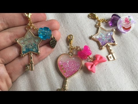 UV ℜesin tutorial: Glitter wand charms