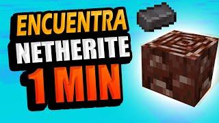 Netherite en 1 MINUTO 🔷⛏️ Cómo encontrar Ancient Debris Minecraft 1.16
