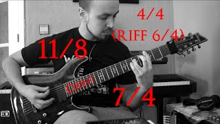 Djent Riffs | Odd Time Signatures 11/8 - 7/4 and more