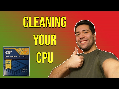 PC DIY - How to clean your CPU of thermal paste!!