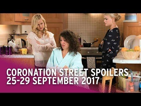 Coronation Street spoilers: 25-29 September 2017