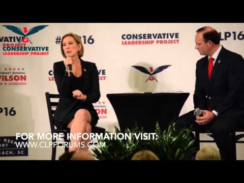 CLP Presidential Forum: Carly Fiorina with Attorney General Alan Wilson