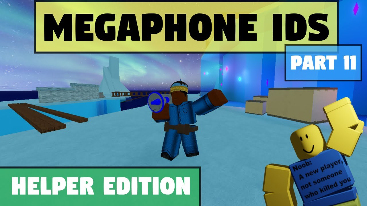 ROBLOX Arsenal Megaphone Boombox Emote IDs/Codes Part 11 YouTube