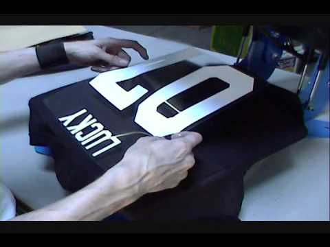 heat transfer tee shirts with names numbers youtube