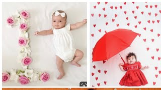DIY/ baby photography ideas with simple and easy things at home 😍