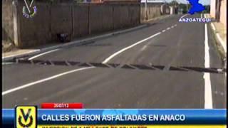 En Anzoátegui calles de Anaco fueron asfaltadas