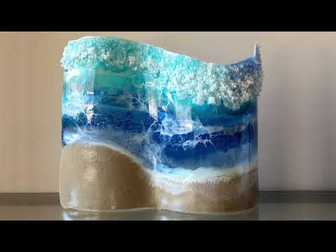Turn your Resin Beach Art into a Free-Standing Wave Sculpture