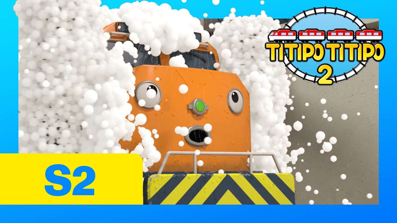 TITIPO S2 EP24 l Train Wash on the Fritz l Train Cartoons For Kids | TITIPO TITIPO 2