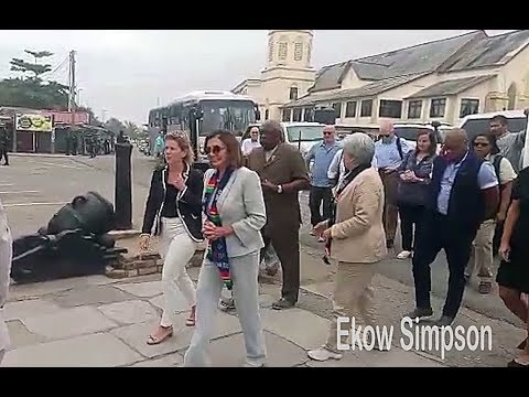US House Speaker Nancy Pelosi Visits Cape Coast Castle, Ghana