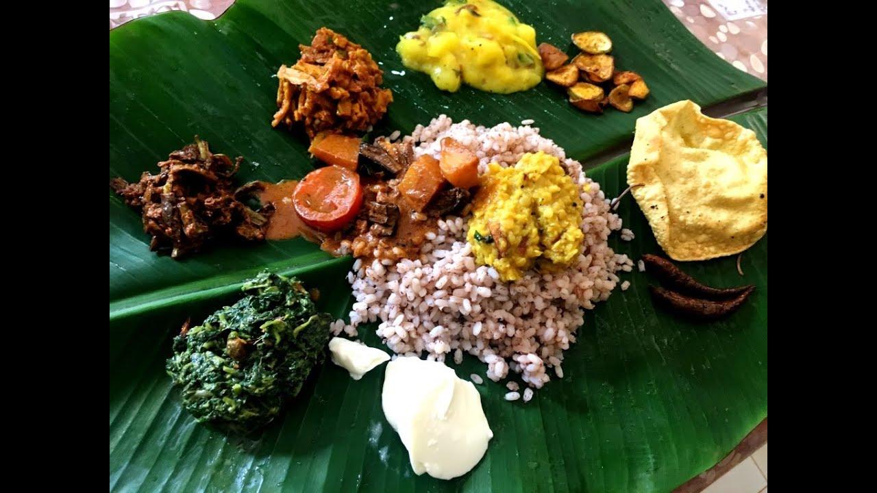 Full vegetarian meal on banana leaf recipe in sri lankan style youtube full vegetarian meal on banana leaf recipe in sri lankan style forumfinder Images