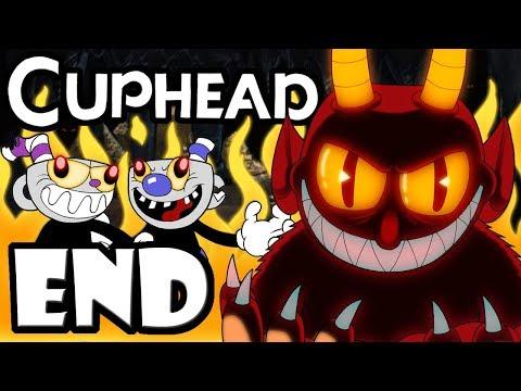 """CUPHEAD + Mugman - 2 Player Co-Op! - Gameplay Walkthrough ENDING """"Dealing with the Devil"""" Final Boss"""