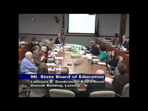 Michigan Department of Education Meeting for October 14, 2014 - Afternoon Session