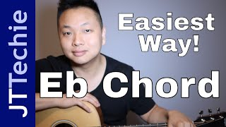 Easiest Way To Play Eb Chord On Acoustic Guitar | E Flat Chord On Guitar