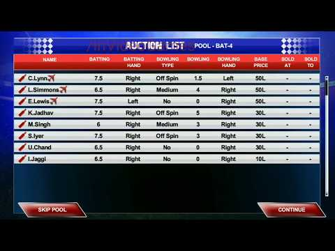 Real Cricket 2017 Premier League - Auction Part 2 aNdroid / IOS Gameplay