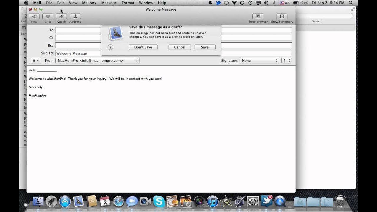 How To Create Template in Apple Mail - YouTube