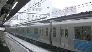 西武鉄道30000系 各停新所沢行 雪の所沢発車