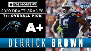 The Carolina Panthers add a FORCE in DERRICK BROWN with the seventh pick | 2020 NFL Draft