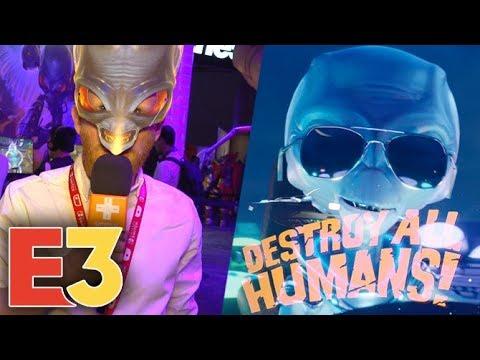 E3 2019 : On a tué plein de gens dans Destroy All Humans et on ne regrette rien