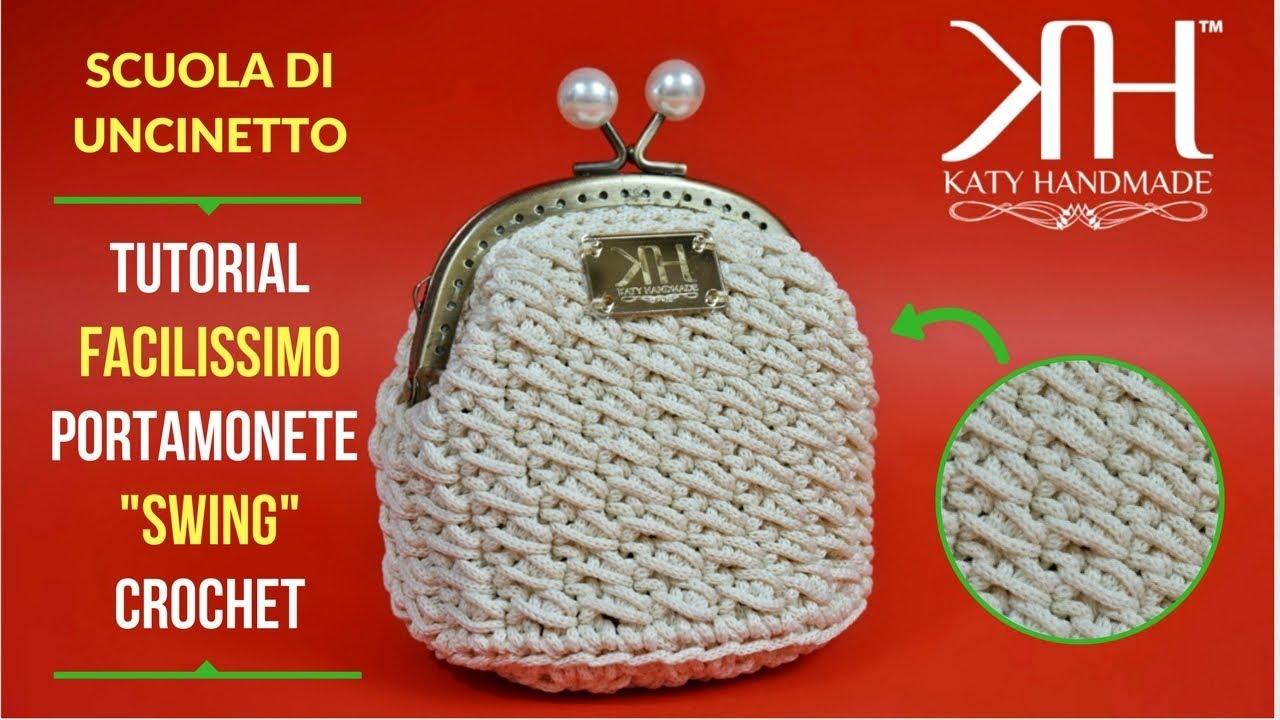 Tutorial Portamonete Uncinetto Clic Clac Swing Crochet Facile