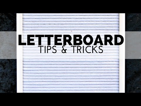 How to Use a Letter Board