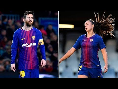 Messi Vs Lieke Martens - Skills & Goals 2017/2018 HD