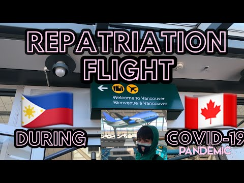 Repatriation Flight For Canadians And PR Visa Holders Of Canada 🇨🇦 | From Philippines To Canada