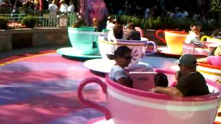 Spinning Tea Cups at Disneyland Located in Southern California