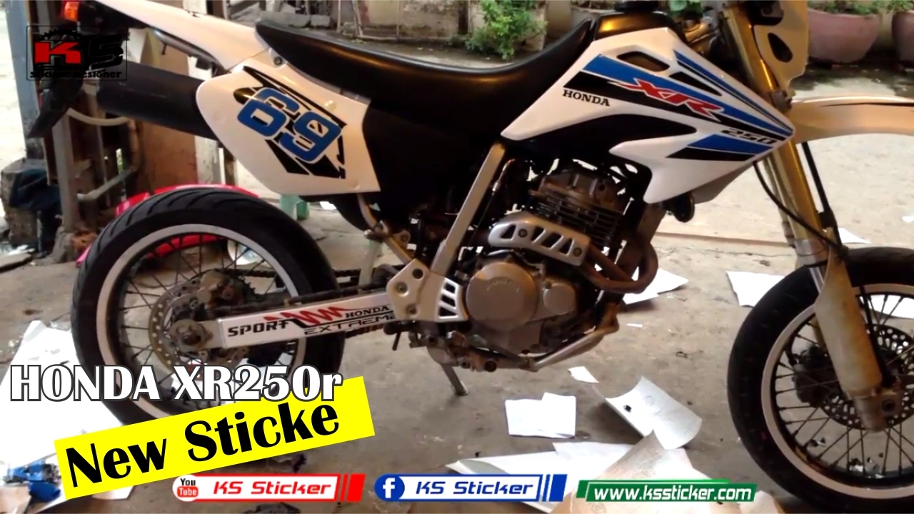 Honda xr250 sticker number 69 new xr honda ks sticker youtube