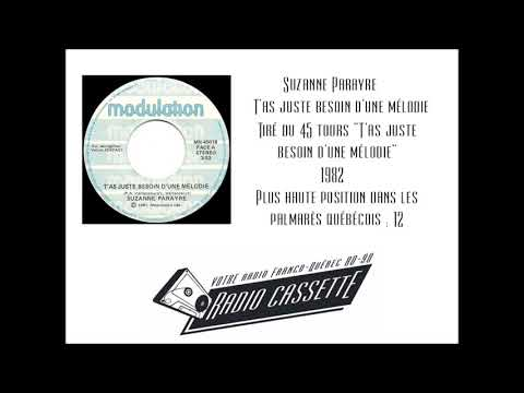 Suzanne Parayre - T'as juste besoin d'une mélodie