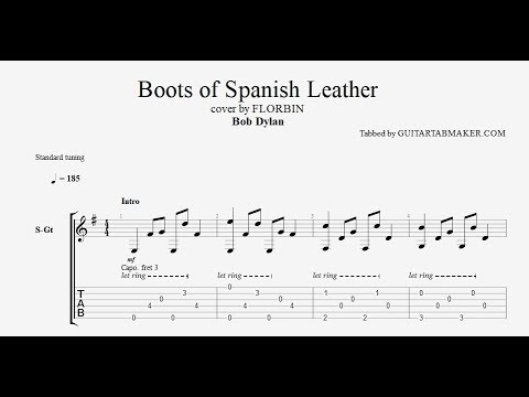 Boots Of Spanish Leather Tab Acoustic Fingerpicking Guitar Tab