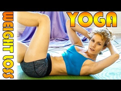 Beginners Yoga For Weight Loss & Flexibility # 3 Workout - Fat Burning 20 Minute Class
