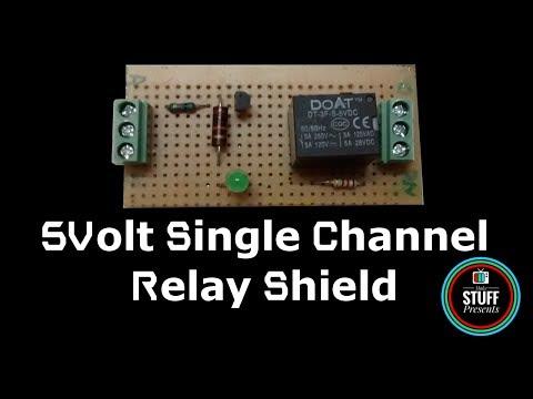 DIY | Homemade 5V Single Channel Relay Module Shield For Arduino, PIC, AVR