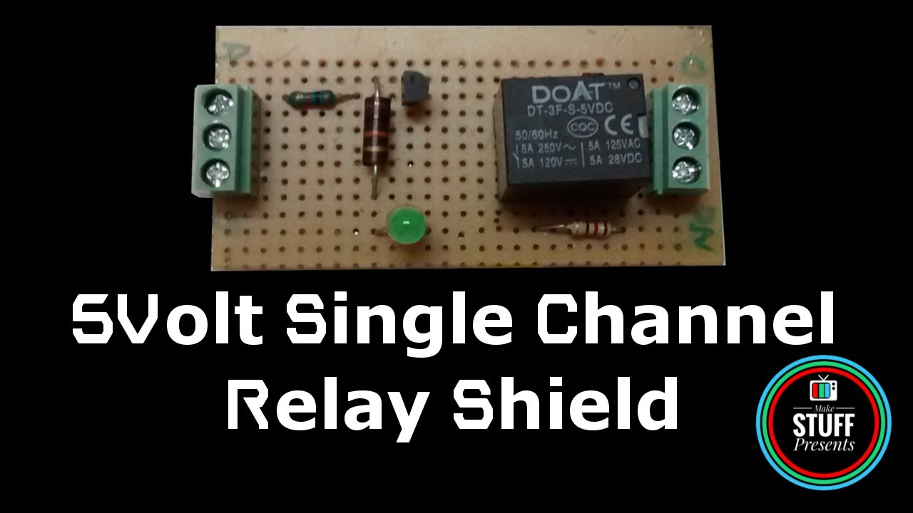 DIY | Homemade 5V Single Channel Relay Module Shield For Arduino, PIC, AVR