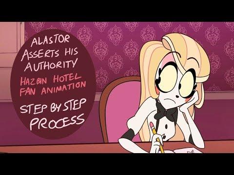 Alastor Asserts His Authority - Hazbin Hotel Fan Animation (Process)