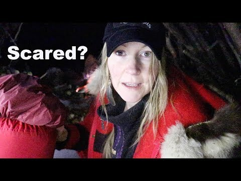 Alone in the Woods | My Scariest Moment Ever | Debris Shelter Overnight