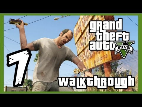 "Grand Theft Auto V Walkthrough PART 7 [PS3] Lets Play Gameplay TRUE-HD QUALITY ""GTA 5 Walkthrough"""