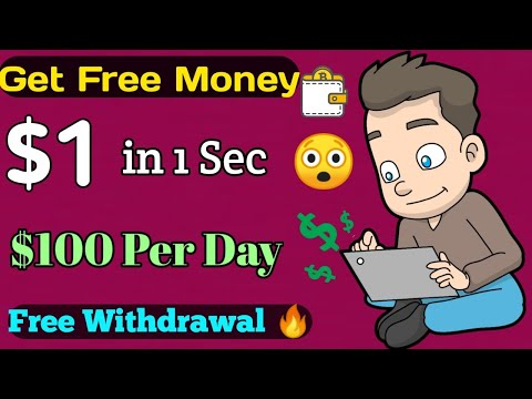Earn $1 In 1 Second Free 🤑 | $100 Per Day || No Investment Free Money Work At Home🔥